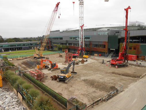 Construction of Wimbledon new court