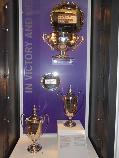 Doubles winner trophies