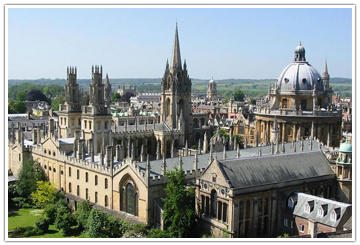 Arial view of Oxford