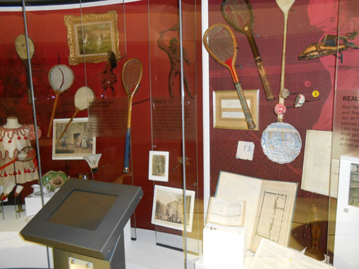 Racquets on Display