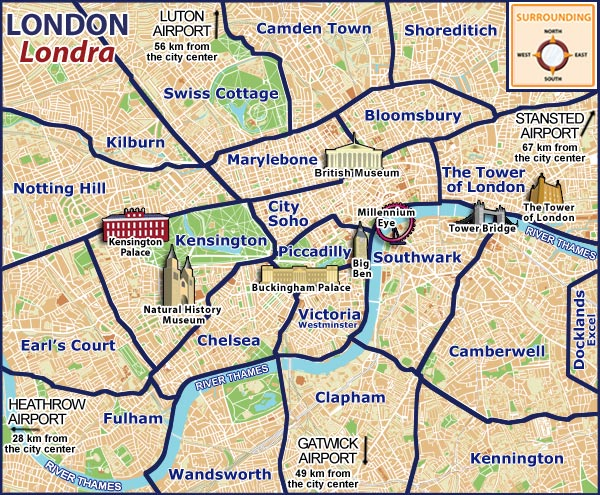 map of central london areas