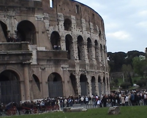 View of Colloseum in Rome