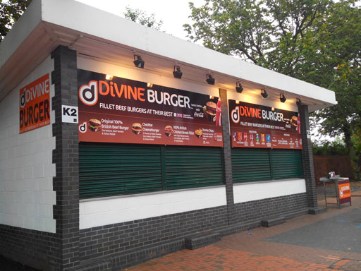 Divine burger shop near Wembley stadium