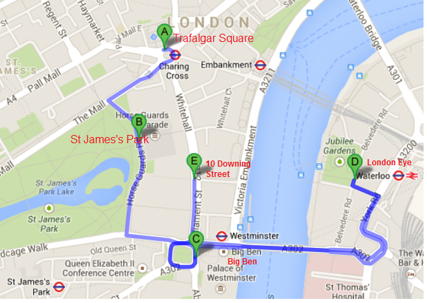 London itinerary for one day