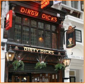 Dirty Dicks Pub in London