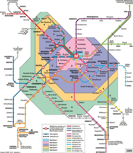 Leeds Metro rail map, Useful maps of Wales